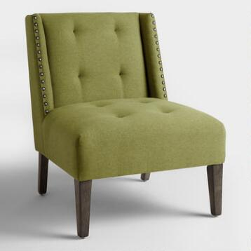 Green Carlin Wingback Chair